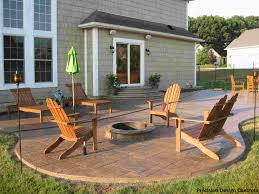 Stamped Concrete Patio Prices by New Stamped Concrete Patio With Built In Fire Pit What A Great