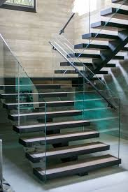 329 best staircases images on pinterest stairs architecture and modern stair with frameless glass railing no exposed fasteners on the treads