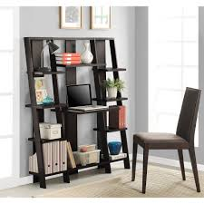 Walnut Ladder Bookcase Ameriwood 3 Shelf Bookcase Multiple Finishes Walmart Com