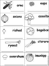 food themed unscramble words worksheets at enchantedlearning com