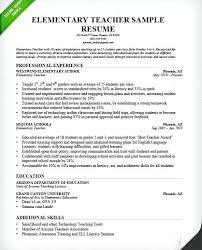 resumes for teachers u2013 inssite
