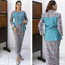 model baju ッ 25 model baju batik pramugari berjilbab lengan panjang cantik