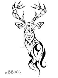 tribal deer clipart