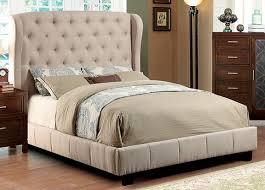 Tufted Platform Bed Furniture Of America Fontes Wingback Tufted Platform Bed