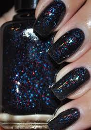 black holographic glitter nail polish dark matter holographic