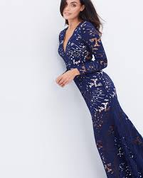 bariano dresses viviene sleeve lace gown by bariano online the iconic