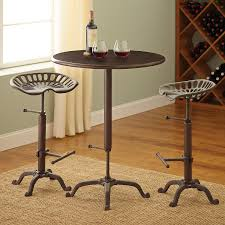 Industrial Bar Table Industrial Pub Table And Tractor Stool Set Wine Enthusiast