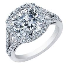 engagement rings cushion cut 1 00 carat center cushion cut diamond halo engagement ring