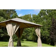 gazebo heavy duty glendale venice heavy duty gazebo 25m x 25m beige on sale