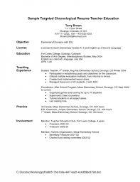 Resume For Child Care Director Teacher Resume Objective Resume Objective For Teacher Good
