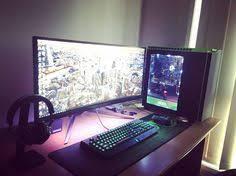 Gaming Desk Setup by Amazing Battle Station Gaming Computer Desk Setup Black Glass L