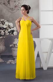 yellow chiffon bridesmaid dress beach elegant casual petite simple