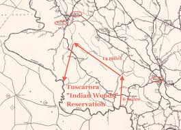 Unc Map Defining The Boundaries Of The Tuscarora U201cindian Woods