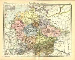 Europe 1815 Map by Central Europe Map 919 1125