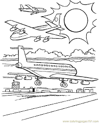 airplane coloring page 16 coloring page free air transport