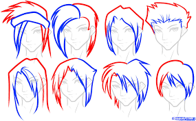 draw hair for boys step by step drawing sheets added by