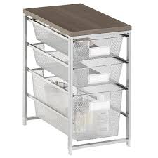 platinum cabinet sized elfa mesh bath storage the container store