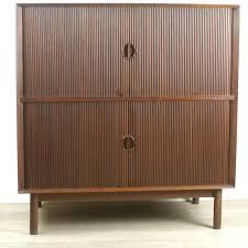 Tambour Door Cabinet Scandinavian Teak Tambour Door Cabinet By Hvidt 73532