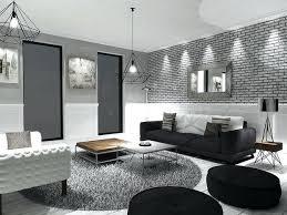deco chambre moderne deco salon gris noir blanc daccoration decoration chambre moderne