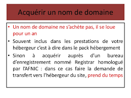 bureau d enregistrement nom de domaine les noms de domaine
