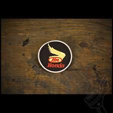 vintage honda logo retro gold honda wing patch vintage motorcycle patch
