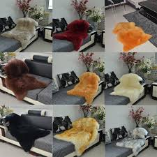 luxury faux sheepskin lambskin natural long wool fur rug carpet
