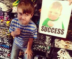 Fist Pump Baby Meme - boy in success kid meme now all grown up asks help for his