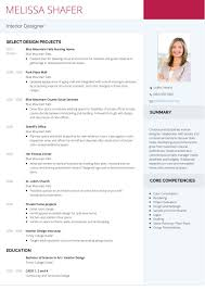 Interior Design Resume Templates Interior Design Resume Examples Resume Peppapp