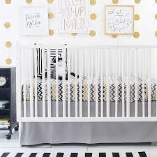gold and gray chevron baby bedding gray crib bedding chevron