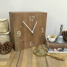 wood box clock wall or shelf clock rustic country farmhouse