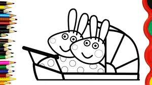 peppa pig rosie robbie rabbit coloring book pages kids fun