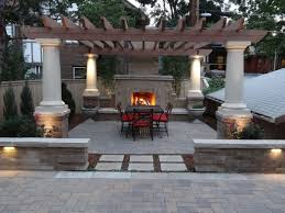 Fireplace Patio by Patio Seating Wall Lights