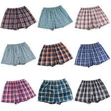 cheap classic plaid boxer shorts mens trunks