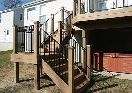 composite deck stairs photo gallery of large composite decks by