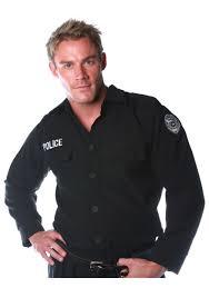 cop halloween costumes men u0027s police shirt