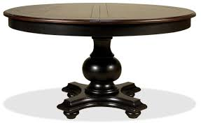 dining room sophisticated dark wooden expandable round dining