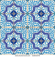 gorgeous seamless pattern blue white stock vector 316832576