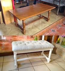 Chaise En Paille Ikea by Transformer Une Vieille Table Basse En Banquette Cosy Turn An Old