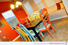 Orange Dining Room 15 Mix And Match Eclectic Dining Rooms Home Design Lover