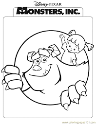 coloring page monsters inc monsters inc coloring page 10 coloring page free monsters inc