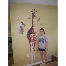 Giraffe Wall Decals For Nursery Ideas Giraffe Wall Also Etsy Baby Print Yellow And Grey