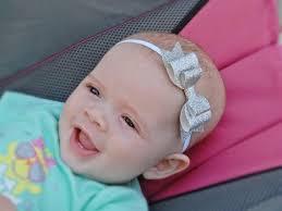 newborn bows silver bow glitter headband hairbow hair band hairband