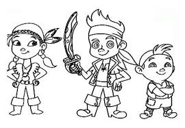 happy jake neverland pirates coloring pages 5007 jake