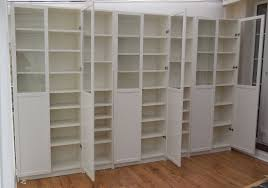 Ikea Billy Bookcase Shoes Ikea White Billy Bookcases With White Panel Glass Oxberg Doors