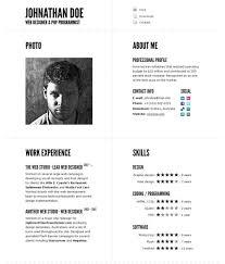 impressive resume templates 40 great html cv resume templates template idesignow