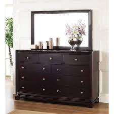 Bedroom Furniture Dresser Sets Kingston Espresso Dresser And Mirror Set With 9 Drawer Dresser