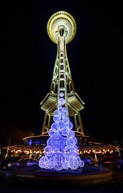 merry christmas from the space needle seattle washington