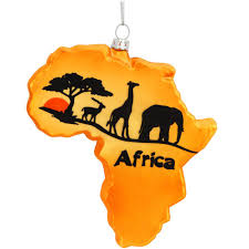 africa continent glass ornament bronner u0027s christmas wonderland