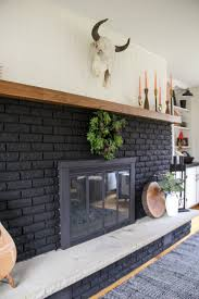 Black Paint For Fireplace Interior Our Black Painted Fireplace Bright Green Door
