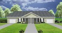 Duplex Plans With Garage Duplex House Plans With 2 Bedrooms Per Unit Plansource Inc